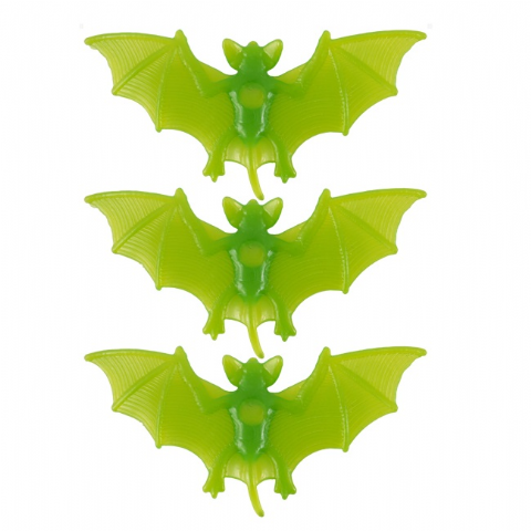 24 x Bats Window Suckers Packs of 3 - Spooky Green Halloween Fun (72 Total)